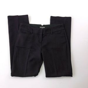Express 2R 30W Black Straight Dress Pants